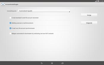 Sony Xperia Tablet Z2 (SGP521) - E-mail - e-mail instellen: IMAP (aanbevolen) - Stap 15