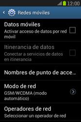 Samsung S6310 Galaxy Young - Internet - Activar o desactivar la conexión de datos - Paso 8