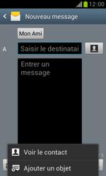 Samsung S7560 Galaxy Trend - Mms - Envoi d