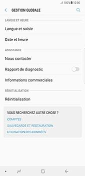 Samsung Galaxy Note 8 - Appareil - Réinitialisation de la configuration d