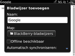 BlackBerry 9700 Bold - Internet - Hoe te internetten - Stap 6