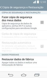 LG D390n F60 - Funções básicas - Como restaurar as configurações originais do seu aparelho - Etapa 5