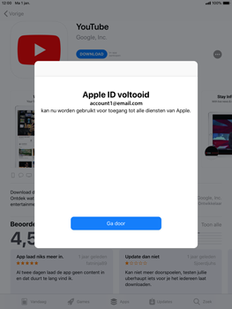 Apple iPad Air 2 - iOS 12 - Applicaties - Account instellen - Stap 24