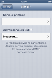 Apple iPhone 4 S iOS 6 - E-mail - Configuration manuelle - Étape 14