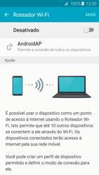 Samsung Galaxy S6 - Wi-Fi - Como usar seu aparelho como um roteador de rede wi-fi - Etapa 6