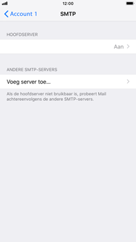 Apple iPhone 8 Plus - iOS 12 - E-mail - Account instellen (POP3 met SMTP-verificatie) - Stap 20