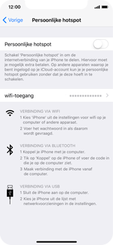 Apple iPhone X - WiFi - WiFi hotspot instellen - Stap 4