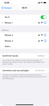 Apple iPhone XR - iOS 13 - Wifi - configuration manuelle - Étape 6