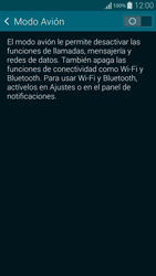 Samsung G850F Galaxy Alpha - Funciones básicas - Activar o desactivar el modo avión - Paso 5