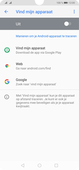 Huawei P30 - Toestel - stel Zoek mijn mobiel in - Stap 5