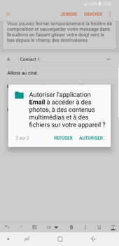 Samsung Galaxy S9 Plus - E-mail - envoyer un e-mail - Étape 13
