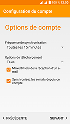 Alcatel U5 - E-mails - Ajouter ou modifier un compte e-mail - Étape 20