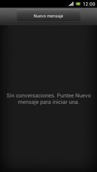 Sony Xperia J - Mensajería - Configurar el equipo para mensajes de texto - Paso 4