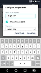 LG K8 - Wi-Fi - Como usar seu aparelho como um roteador de rede wi-fi - Etapa 7