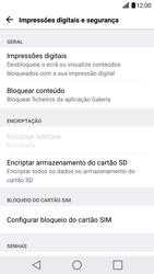 LG G5 - Segurança - Como ativar o código PIN do cartão de telemóvel -  5