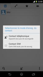 Sony Xpéria M2 - Contact, Appels, SMS/MMS - Ajouter un contact - Étape 7