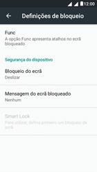 """Alcatel Pixi 4 (5"""") - Segurança - Como ativar o código de bloqueio do ecrã -  5"""