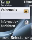 Nokia 2330 classic - Voicemail - handmatig instellen - Stap 5