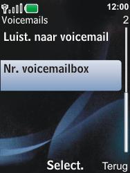Nokia 6600i slide - Voicemail - Handmatig instellen - Stap 5