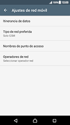 Sony Xperia XZ (F8331) - Red - Seleccionar el tipo de red - Paso 8