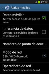 Samsung S6310 Galaxy Young - Internet - Activar o desactivar la conexión de datos - Paso 6