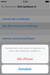 Apple iPhone 4 S iOS 9 - Device maintenance - Terugkeren naar fabrieksinstellingen - Stap 7