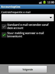 Samsung S5300 Galaxy Pocket - E-mail - Handmatig instellen - Stap 14