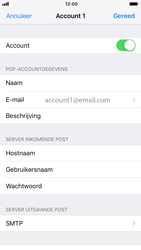 Apple iPhone 8 - iOS 12 - E-mail - Account instellen (POP3 met SMTP-verificatie) - Stap 16