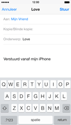 Apple iPhone 5 iOS 7 - e-mail - hoe te versturen - stap 7