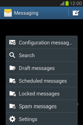 Samsung S6810P Galaxy Fame - SMS - Manual configuration - Step 5