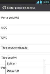 LG E612 Optimus L5 - Internet (APN) - Como configurar a internet do seu aparelho (APN Nextel) - Etapa 16