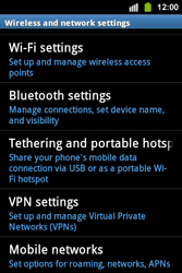 Samsung S5830i Galaxy Ace i - Internet - Enable or disable - Step 5
