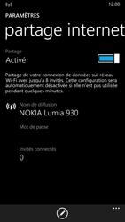 Nokia Lumia 930 - Internet et connexion - Partager votre connexion en Wi-Fi - Étape 8