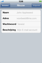 Apple iPhone 4S - E-mail - handmatig instellen - Stap 6