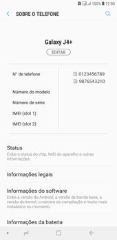 Samsung J4+ - Primeiros passos - Como encontrar o número de IMEI do seu aparelho - Etapa 5