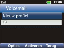 LG C360 Golf - Voicemail - Handmatig instellen - Stap 8