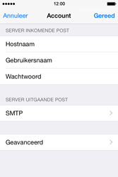 Apple iPhone 4s iOS 8 - E-mail - Account instellen (IMAP met SMTP-verificatie) - Stap 19