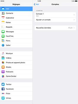 Apple iPad Pro 9.7 - iOS 10 - E-mail - Configurer l