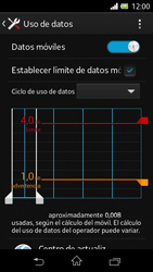 Sony Xperia L - Internet - Ver uso de datos - Paso 11