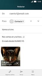 Huawei Y5 - E-mail - Escribir y enviar un correo electrónico - Paso 15