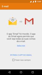 Motorola Moto E (2ª Geração) - Email - Como configurar seu celular para receber e enviar e-mails - Etapa 3