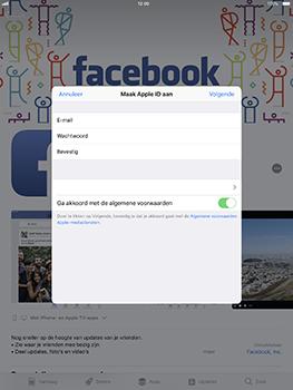 Apple iPad Pro 10.5 inch met iOS 11 (Model A1709) - Applicaties - Account aanmaken - Stap 9