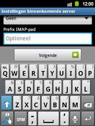 Samsung S5360 Galaxy Y - E-mail - e-mail instellen: IMAP (aanbevolen) - Stap 11