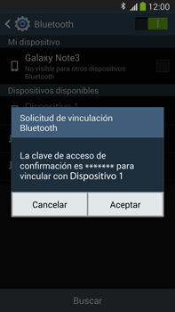 Samsung Galaxy Note 3 - Bluetooth - Conectar dispositivos a través de Bluetooth - Paso 7