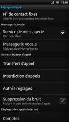Sony LT22i Xperia P - Messagerie vocale - configuration manuelle - Étape 6