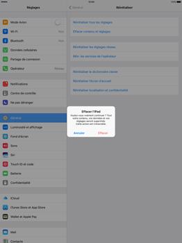 Apple iPad Pro 12.9 (1st gen) - iOS 10 - Device maintenance - Retour aux réglages usine - Étape 7