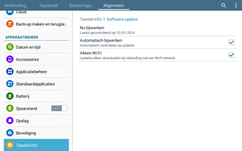 Samsung Galaxy Tab4 10.1 4G (SM-T535) - Software updaten - Update installeren - Stap 7