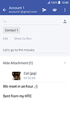 HTC U Play - Email - Sending an email message - Step 18