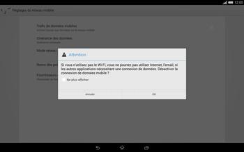 Sony Xperia Tablet Z2 (SGP521) - Internet - activer ou désactiver - Étape 7