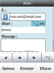 Nokia Asha 300 - E-mail - envoyer un e-mail - Étape 10